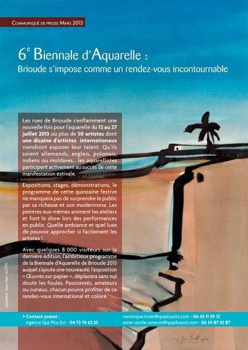 C.P. Biennale Aquarelle mars 2013 - Biennale d'Aquarelle à Brioude