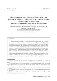 DÉGRADATION DE LA QUALITÉ DES EAUX DU BARRAGE SAHLA ...