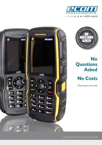 No Questions Asked No Costs - Ecom instruments