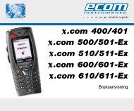 x.com 400/401 x.com 500/501-Ex x.com 510/511 ... - Ecom instruments