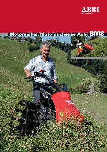 Aebi BM8 Technische Daten / Données technique - Europe service