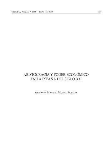 aristocracia y poder económico en la españa del siglo xx - ULPGC