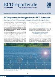 ECOreporter.de-Anlagecheck: BVT Solarpark