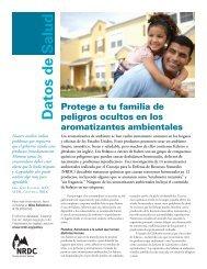Hojas Informativas (pdf) - Natural Resources Defense Council