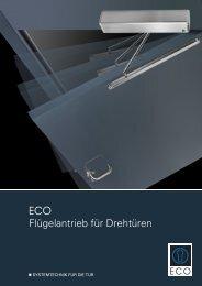 Flügelantrieb für Drehtüren - ECO-Schulte