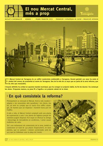 Butlletí 001 - El nou Mercat de Tarragona