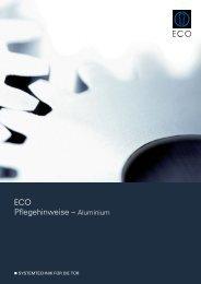 Pflegehinweise - Aluminium - ECO-Schulte