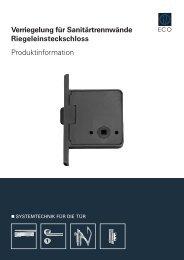 Produktinformation (PDF) - ECO-Schulte