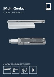 ECO Product information Multi-Genius - ECO-Schulte
