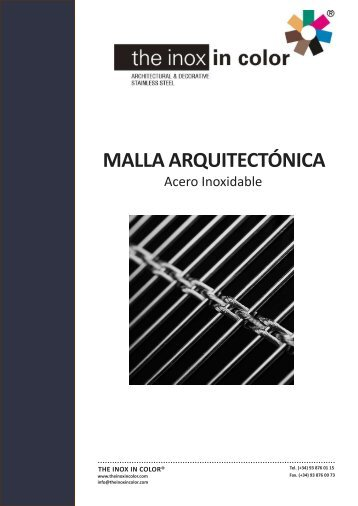 MALLA ARQUITECTÓNICA - The inox in color