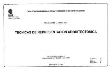 Técnicas de Representación Arquitectónica - Colegio de Bachilleres