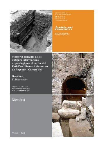 Memòria Pati LLimona - Carta Arqueològica de Barcelona ...