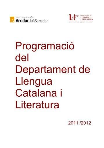 Programació del Departament de Llengua Catalana i Literatura