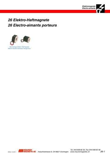 Elektro-Haftmagnete Electro-aimants porteurs - Maurer Magnetic AG