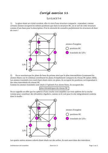 Corrigé exercice 11 - Chimie - PCSI
