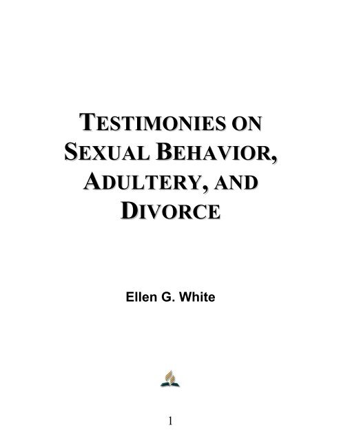 testimonies on sexual behavior adultery , and divorce - Le