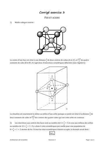 Corrigé exercice 3 - Chimie - PCSI