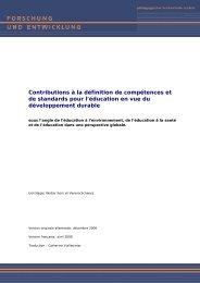 Contributions à la définition de compétences et de standards pour l ...