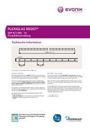 PLEXIGLAS RESIST® - Notz Plastics AG