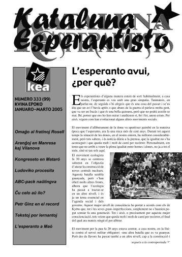 Numero 333 (99) Januaro-Marto 2005 - Associació Catalana d ...