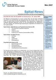 Spital-News März 2007 - beim Spitalverbund Appenzell Ausserrhod