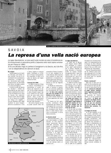 La represa d'una vella nació europea