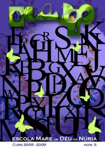 Revista Núm. 5 Febrer del 2009 - Escola Mare de Déu de Núria