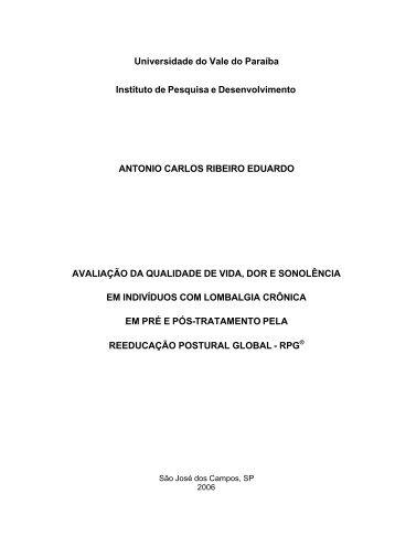 Antonio Carlos - pré texto - Universidade do Vale do Paraíba - Univap