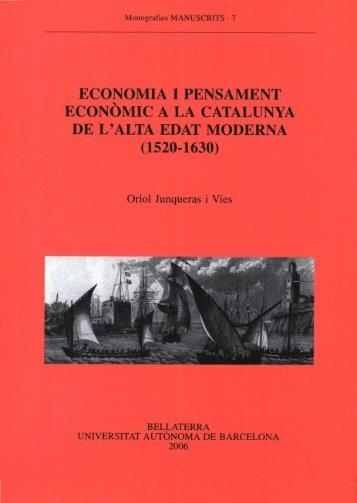 economia i pensament econòmic a la catalunya de l'alta edat moderna