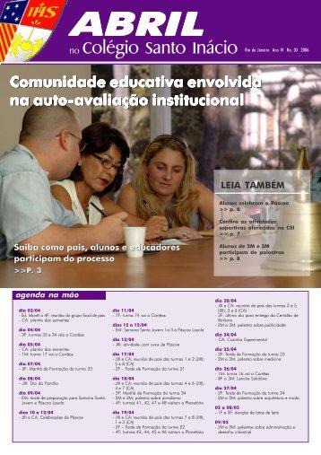 abril - Colégio Santo Inácio