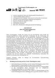 Gemeinsames Positionspapier von zum Entwurf eines ... - Pro Asyl