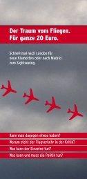 Der Traum vom Fliegen. Für ganze 20 Euro. - Deutscher ...