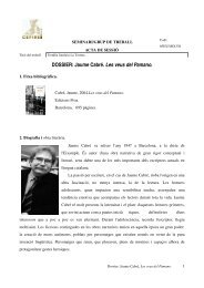 DOSSIER: Jaume Cabré. Les veus del Pamano. - BiBGirona