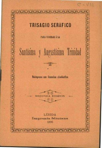 TRISAGIO SERAFICO - Sol-Torres