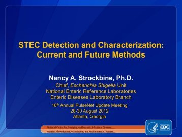 STEC Characterization: Current and Future Methods - Association of ...
