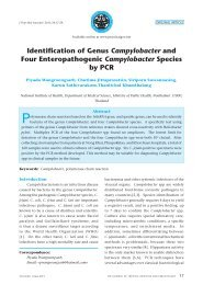Identification of Genus Campylobacter and Four Enteropathogenic ...