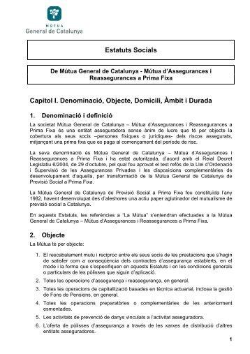 Estatuts de la Mútua General de Catalunya