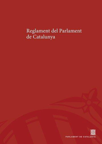 Reglament del Parlament de Catalunya