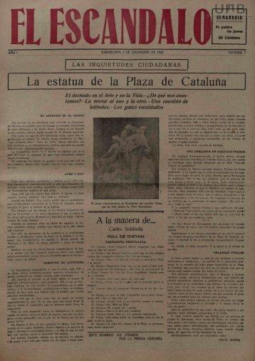 La estatua de la Plaza de Cataluña