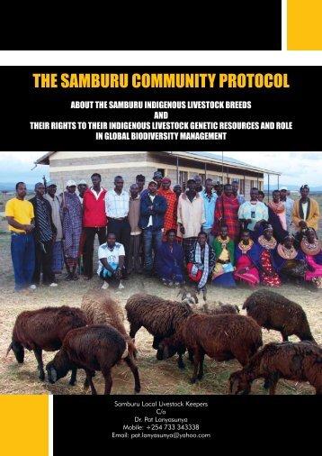 THE SAMBURU COMMUNITY PROTOCOL - Natural Justice