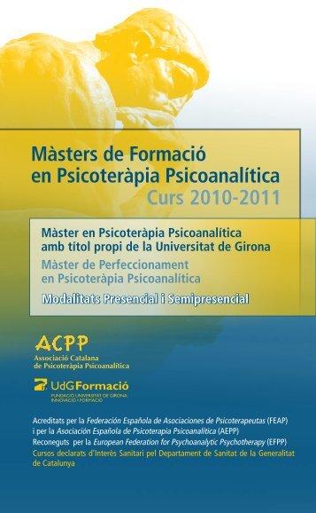 Màster Presencial - Associació Catalana de Psicoteràpia ...