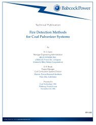 Fire Detection Methods for Coal Pulverizer Systems