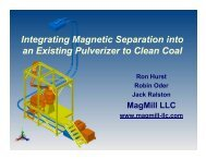 Integrating Magnetic Separation into an Existing Pulverizer to Clean ...