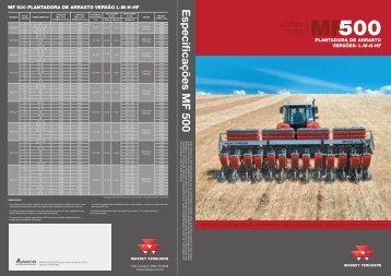 Série MF 500 versões L-M-H-HF - Navesa Tratores