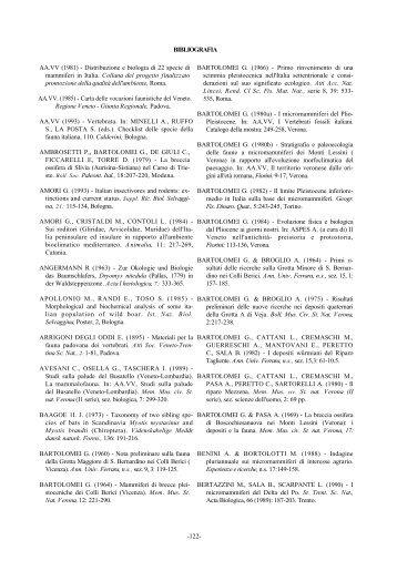 Bibliografia - Istituto Veneto di Scienze, Lettere ed Arti