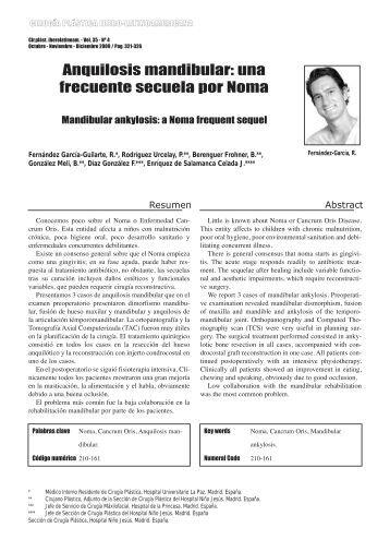 Anquilosis mandibular: una frecuente secuela por ... - SciELO España