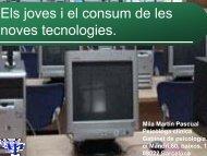Els joves i el consum de les noves tecnologies.