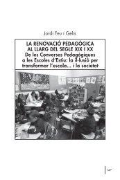 LA RENOVACIÓ PEDAGÒGICA AL LLARG DEL SEGLE XIX I XX De ...