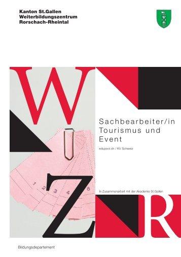 Sachbearbeiter/in Tourismus und Event - Weiterbildungszentrum ...