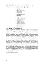 Anàlisis dels elements del bon govern local - Associació Catalana ...